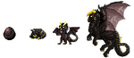 Dark dragons sprites by FuriarossaAndMimma