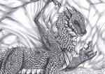 Golden Dragon - BW by FuriarossaAndMimma