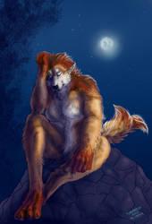 Sad Werewolf by FuriarossaAndMimma