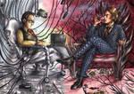 Harold Finch vs Hannibal Lecter by FuriarossaAndMimma