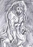 Inktober 2017 - Blind beast by FuriarossaAndMimma