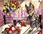Commission - A chibi wrestling match