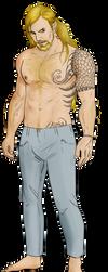 Alejandro human form by FuriarossaAndMimma