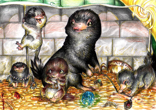Jewels, Gold and cute baby nifflers
