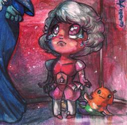 Sad chibi Pink Diamond by FuriarossaAndMimma