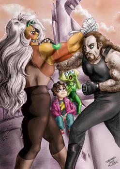 Jasper vs The Undertaker by FuriarossaAndMimma