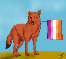Commission - Lisa with pride flag