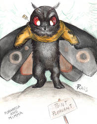 Mothman with sweater