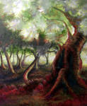 blood red tree