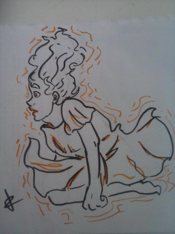Orange Lines by VPadial