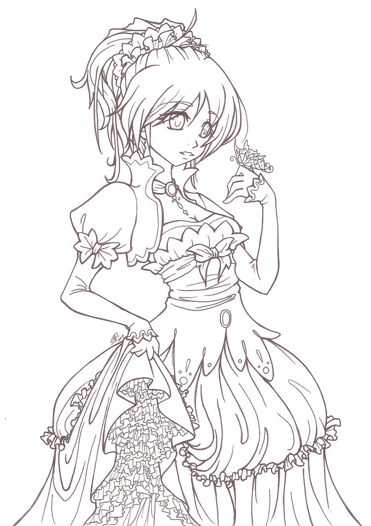 anime coloring pages deviantart outgoing - photo#14