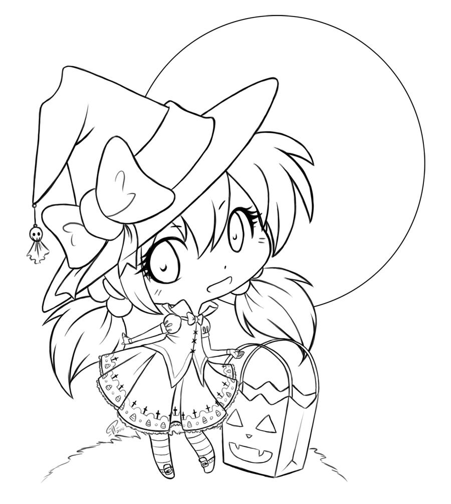 Trick or Treat Lineart
