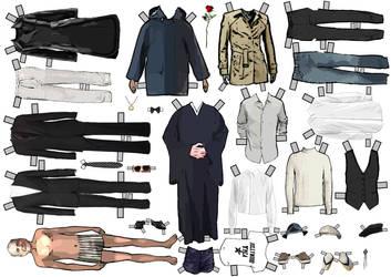 Leonard Cohen Dress-up Paperdoll by Evahasfun