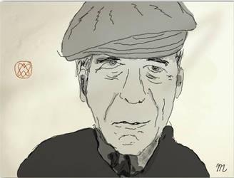 Leonard Cohen portrait by Evahasfun