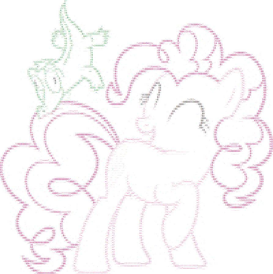 Ascii Art Pinkie Pie By Mlp Princesstwi On Deviantart