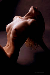Nude with hair thrown back by lalitrastogi