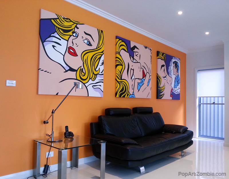 Pop Art Painting - Roy Lichtenstein Triology PAZ by Pop-Art-Zombie ...