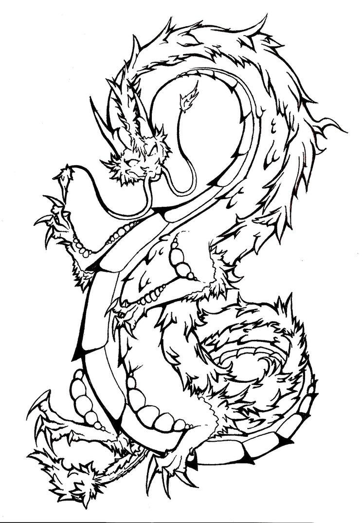 Line Drawing Tattoo Designs : Dragon tattoo lineart by kaiya ashigawa on deviantart