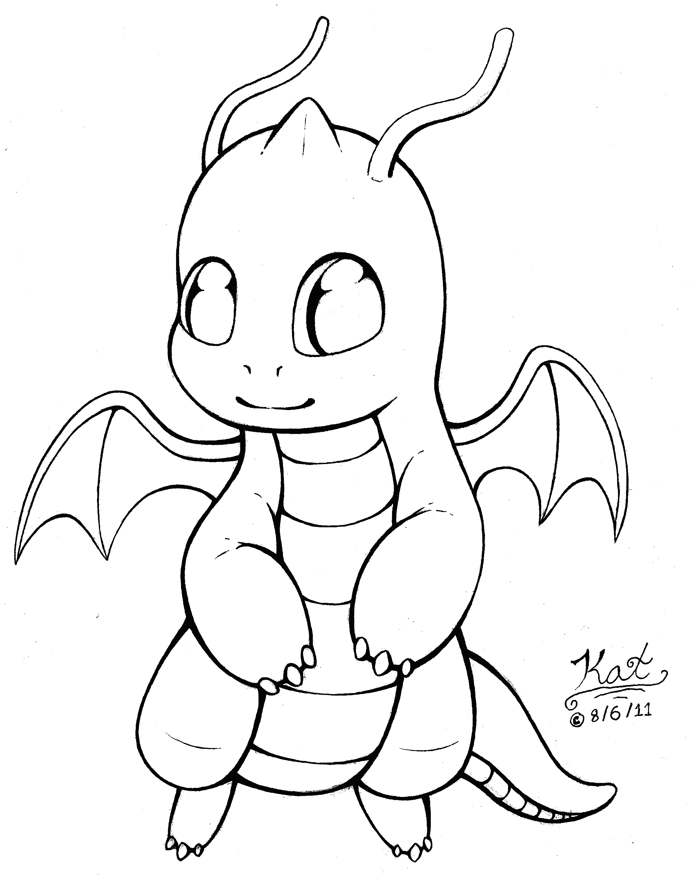 It's just an image of Impertinent Chibi Dragon Drawing