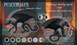 Character Sheet -Peacemaker- by VexVamp