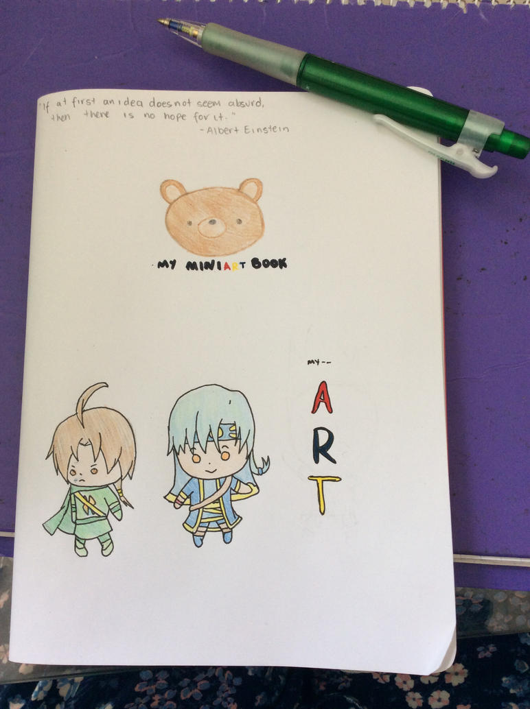 My Art Book Cover : My mini art book cover by aurothelucario on deviantart