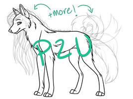 P2U Wolf Lineart ! by SonaAdopts