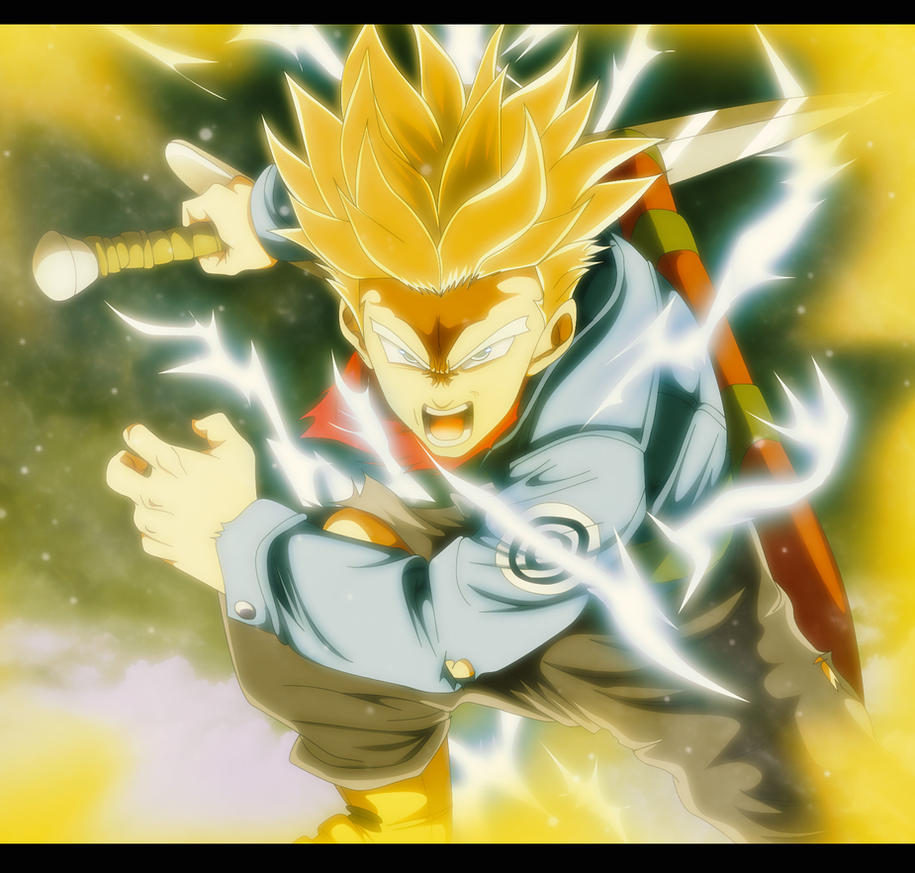 Trunks Super Saiyan 2 by IIYametaII