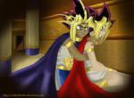 Pharaoh Atemu and Yugi