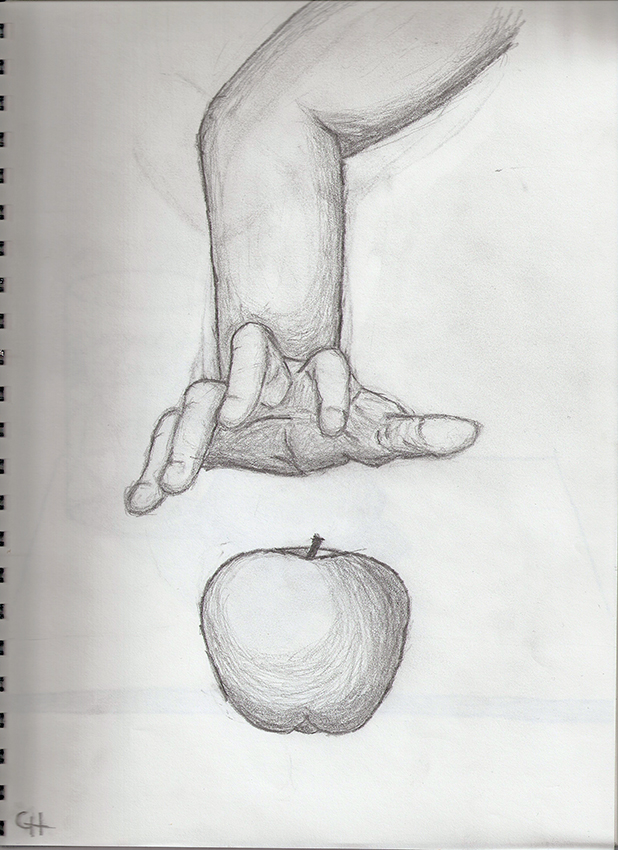 Hand reaching for an apple by CaynGillfore on DeviantArt
