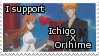 IchigoxOrihime Stamp by queen-of-pie