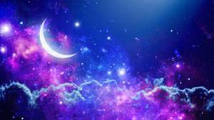 Space theme night sky