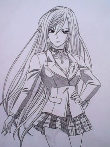 Rosario+Vampire MOKA Vampire form by chris-reen