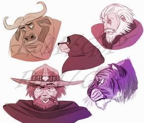 Random Sketchdump by The-Ravens-Of-Moraea