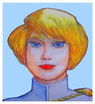 Power Girl looking close up