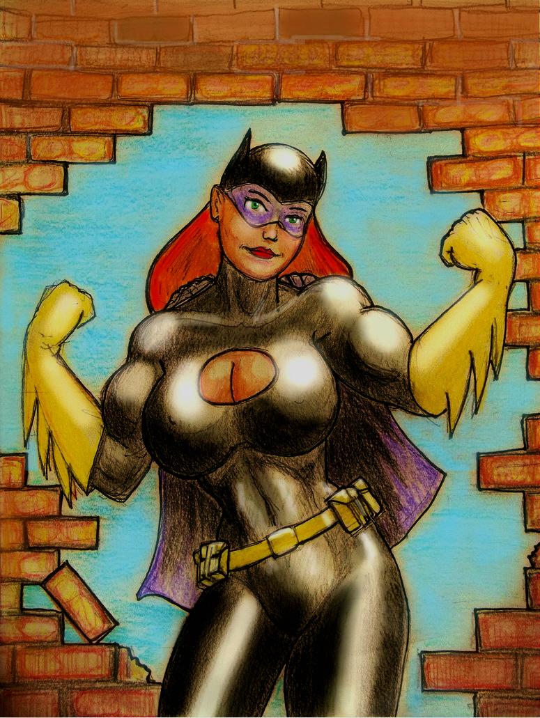 Power Batgirl in colour by svettzwo