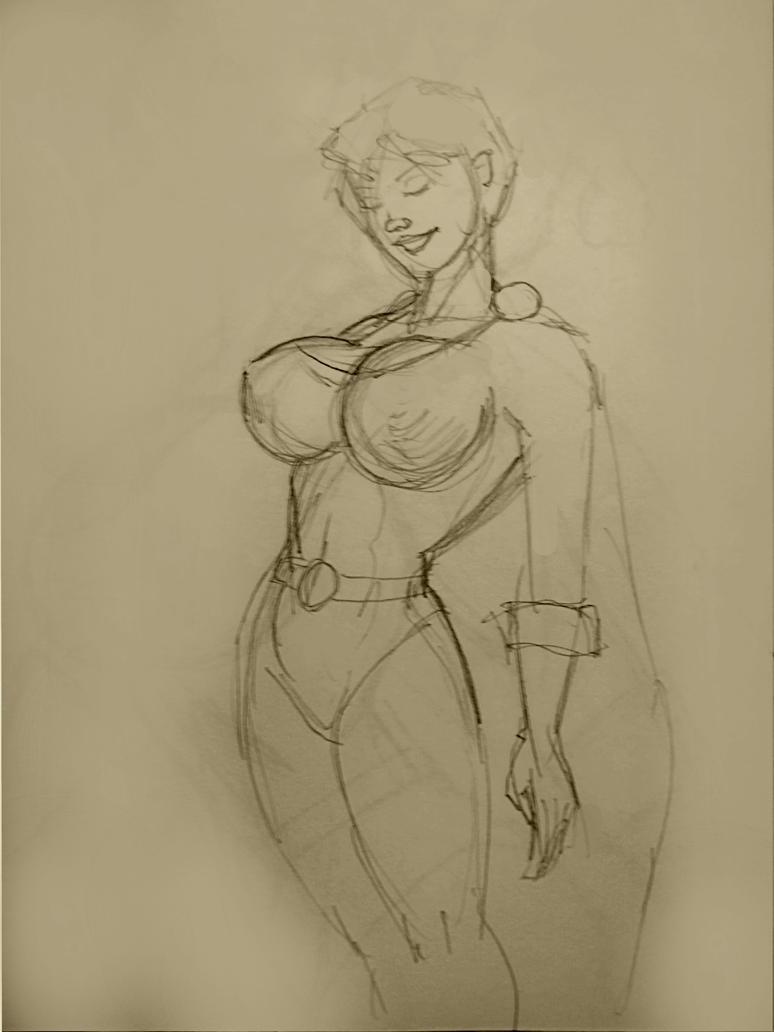 Power Girl Sketch 7468 by svettzwo