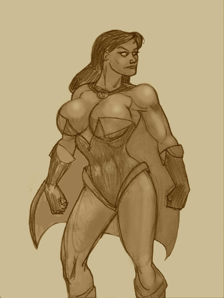 Superwoman angry, toned by svettzwo