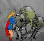 Supergirl VS. Mech Ant