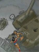 When Amazons Battle by svettzwo