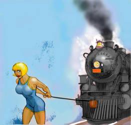 1928 Power Girl demonstrates her pull by svettzwo