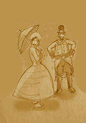 Miss Annabelle and Capt. Ruckles by svettzwo
