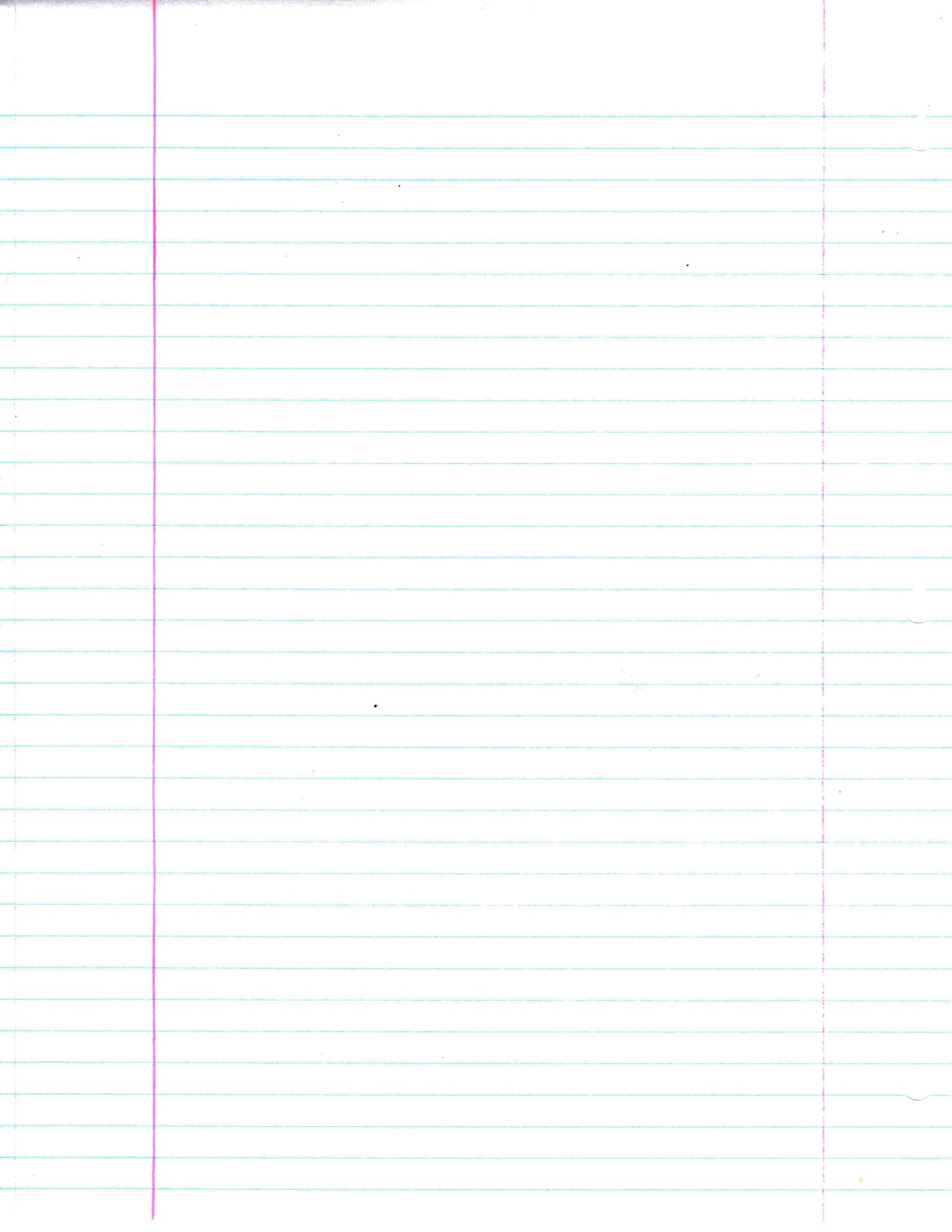 Notebook Paper Plain by FairyFindings on DeviantArt – Notebook Paper