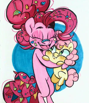 Pinkie Pie and her kid