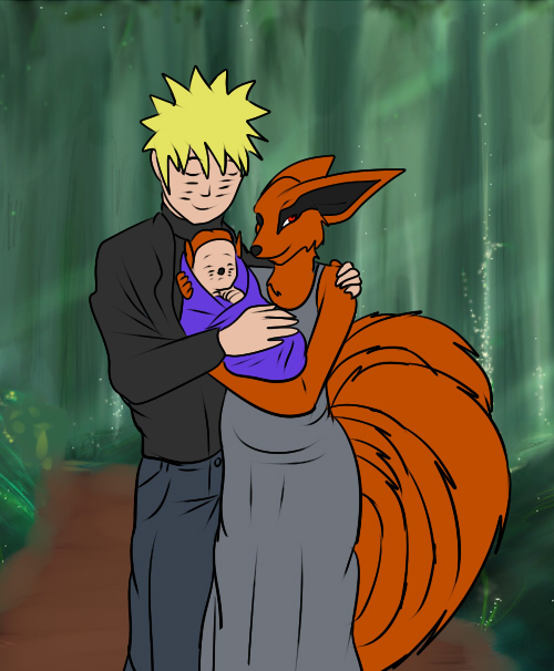 Naruto and Kyuubi's Family Portrait by demonstardust on ...