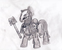 40k Ponies: Chapalin by cahook2