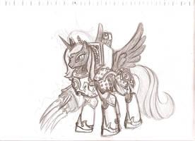 40k Ponies - The Warmaster Loyalist by cahook2