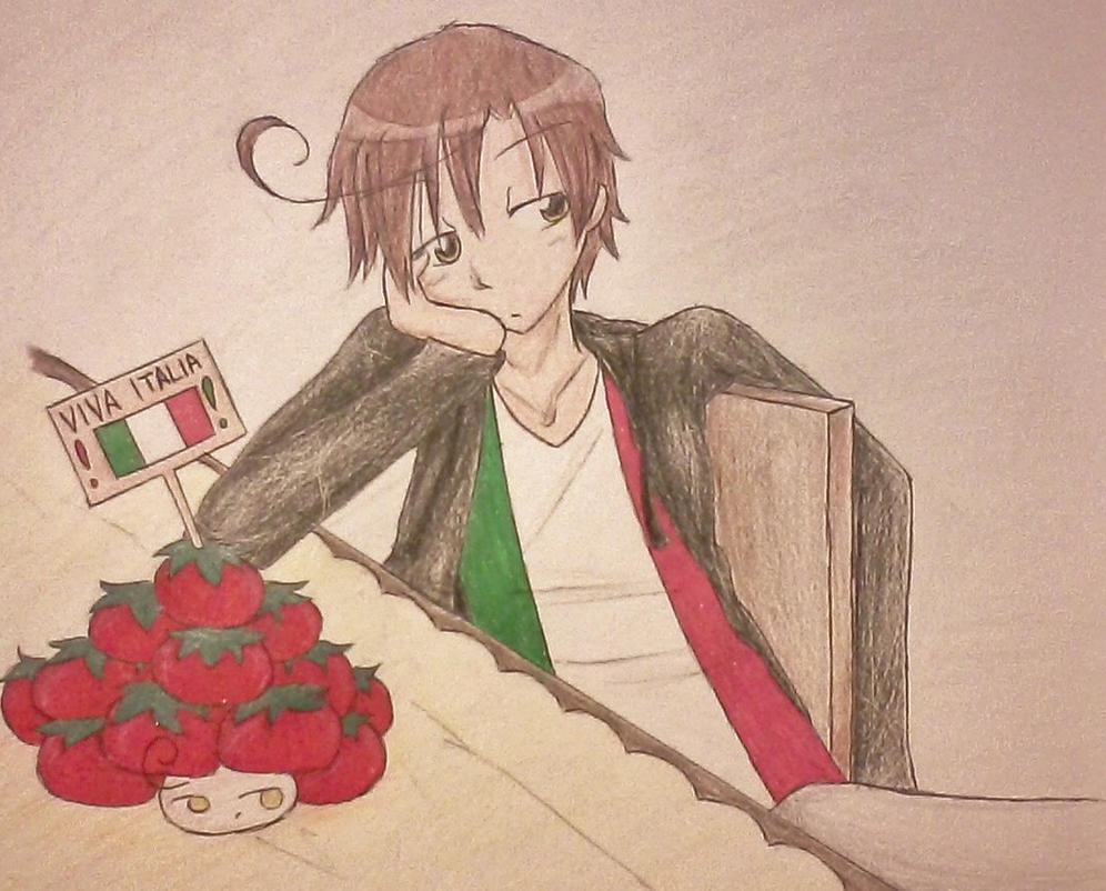 Romano is not amused -_-  *Contest Entry* by Wynter-Reverie