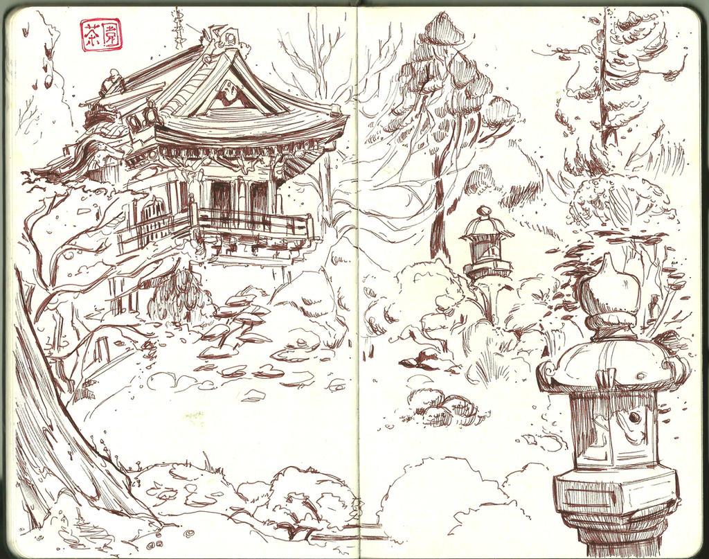 Image Gallery Japanese Garden Drawings