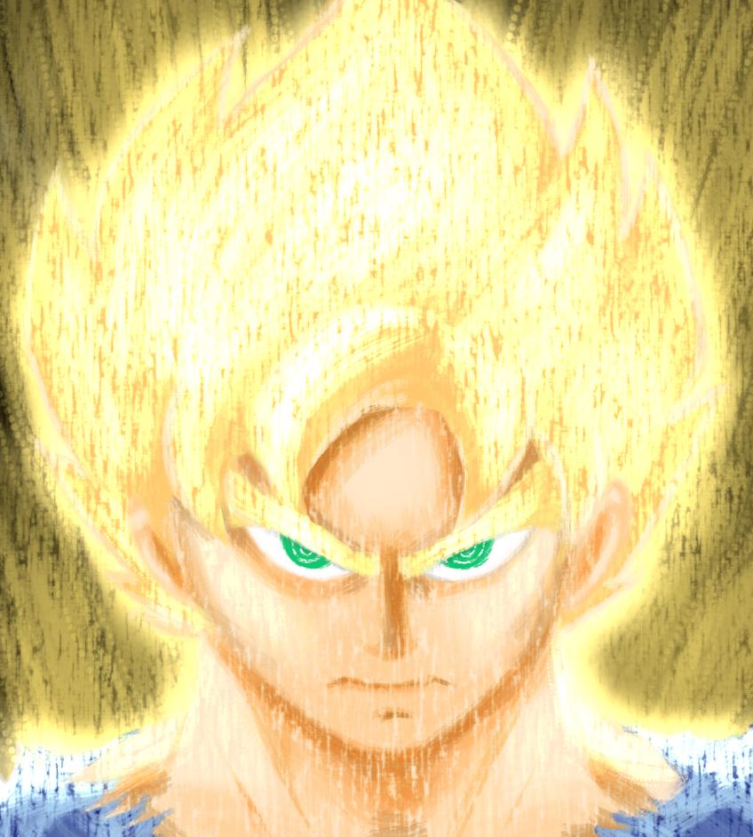 Super Goku by SparkAdam