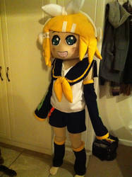 Rin kagamine cosplay by mrsblankbrush